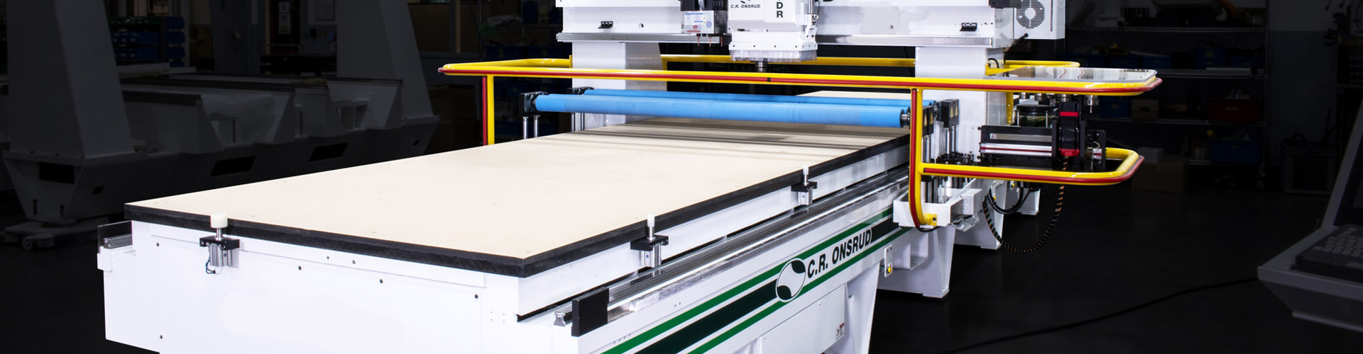 Roller Hold Down CNC Router